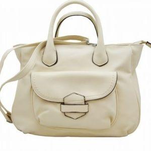 Off White Tuck & Loop Tote Purse Shoulder Bag